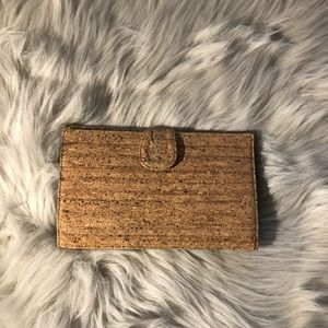 Jcrew, unique cork clutch, striped interior